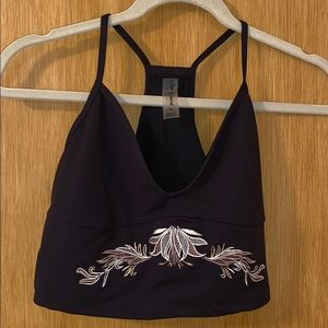 Betsey Johnson crop top activewear sports bra